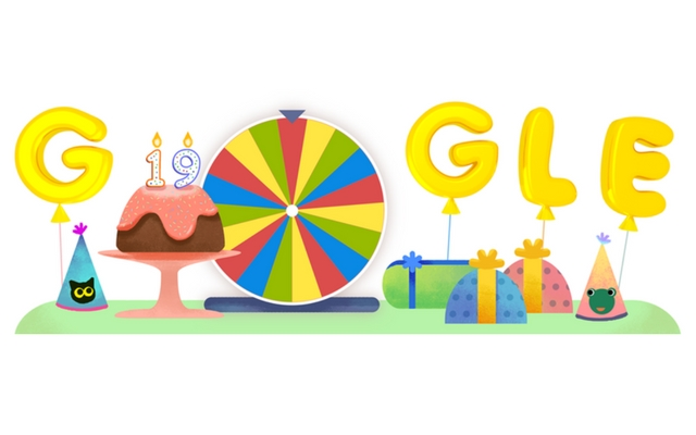 Celebrate 19th Google Birthday Surprise Spinner