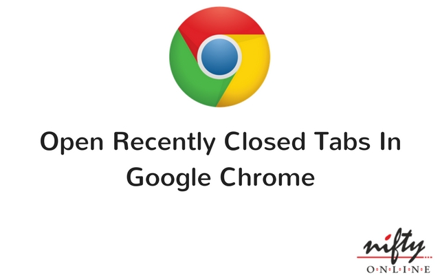 open recently closed tab chrome
